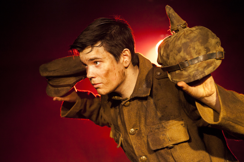 "Alex Gwyther plays Private James Boyce in ""Our Friends the Enemy"""