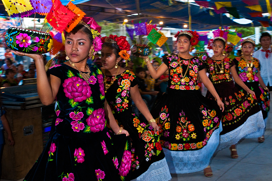 In Mexico, Tehuantepec Isthmus region, Juchitan de Zaragoza, La Candelaria (Candlemas) dedicated to the blessed Virgin from Saint John of God in Spain at the beginning of the 12th century, is celebrated is celebrated with many very colorful festivities, procession and dancing.