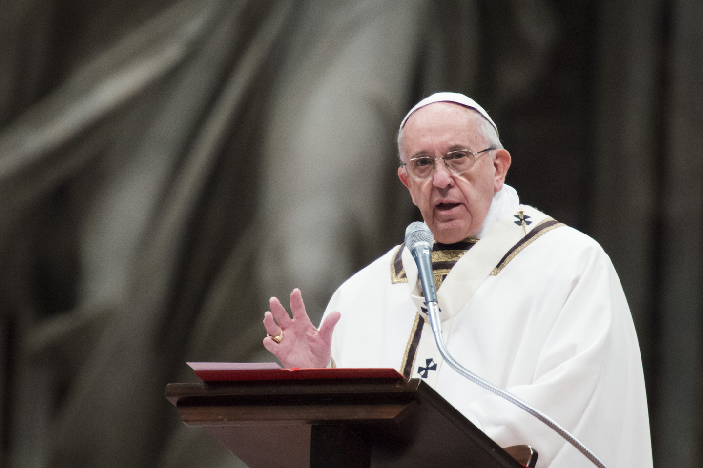 Pope Francis celebrates the Chrism Mass for Holy Thursday on Mar