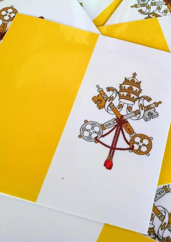 papal flag sticker