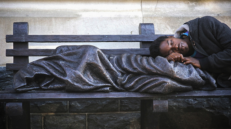 Schmalz's Homeless Jesus, in Washington, DC/Supplied Photo