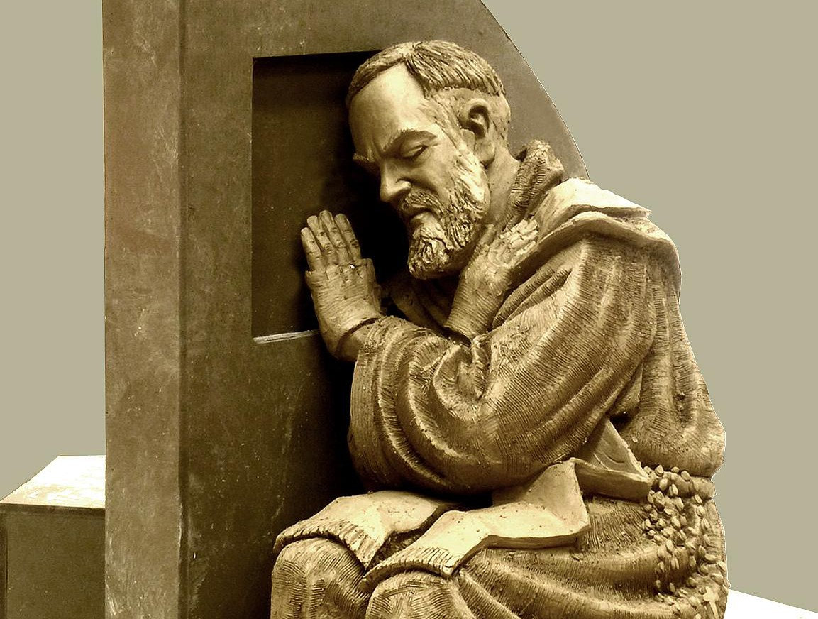 Timothy Schmalz, I Absolve You, Featuring Saint Pio/Supplied Photo