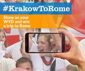 Hashtag #KrakowtoRome to enter