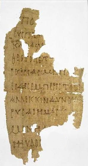 """The earliest known prayer to the Theotokos (in the original Greek """"Θεοτοκος"""" means """"Bearer of God""""), that is, to the Virgin Mary, is found on a fragment of papyrus, which dates all the way back to approximately AD 250"""