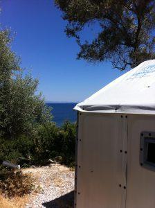 Shelter at Kara Tepe refugee camp
