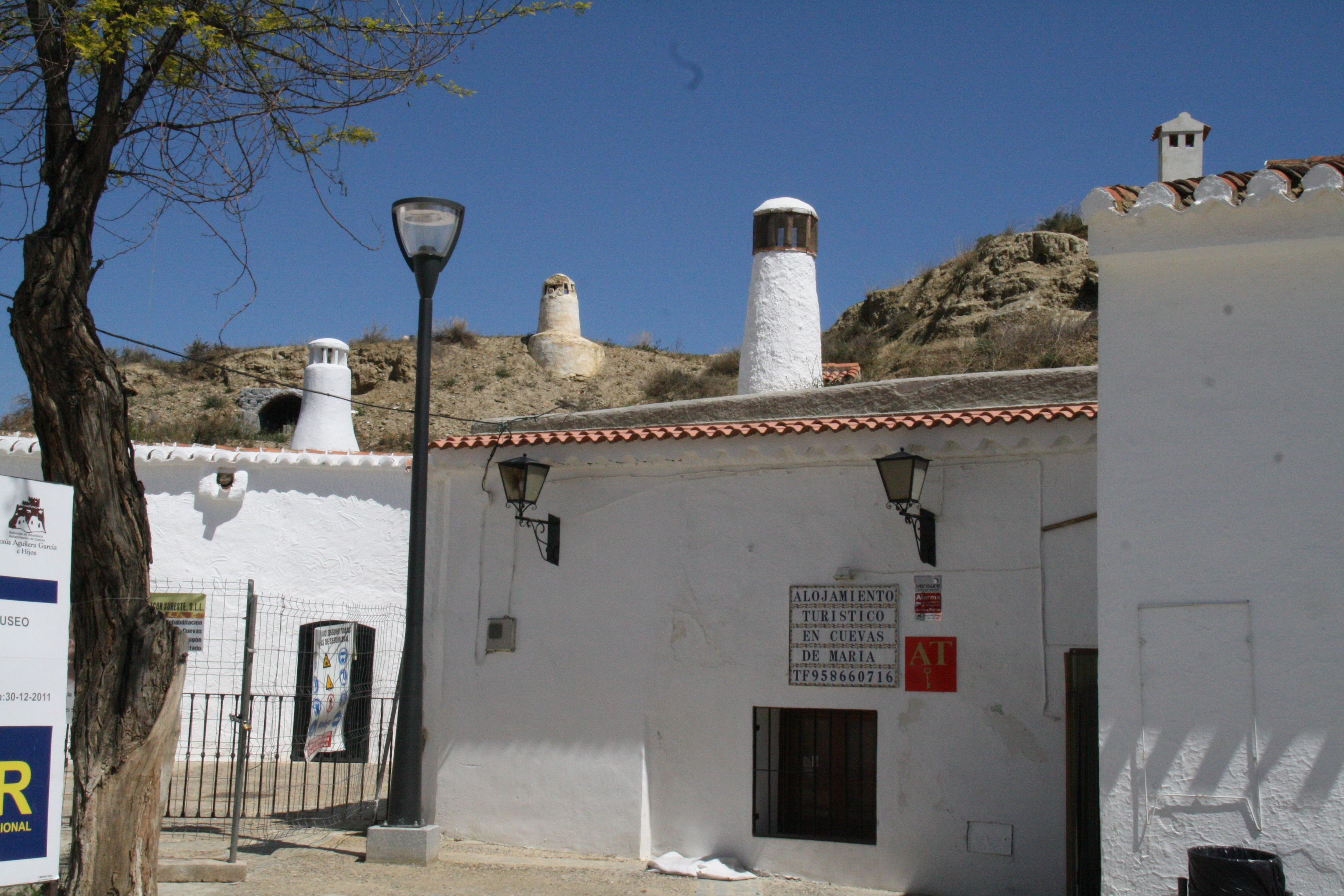 Outside a cave dwelling in Guadix