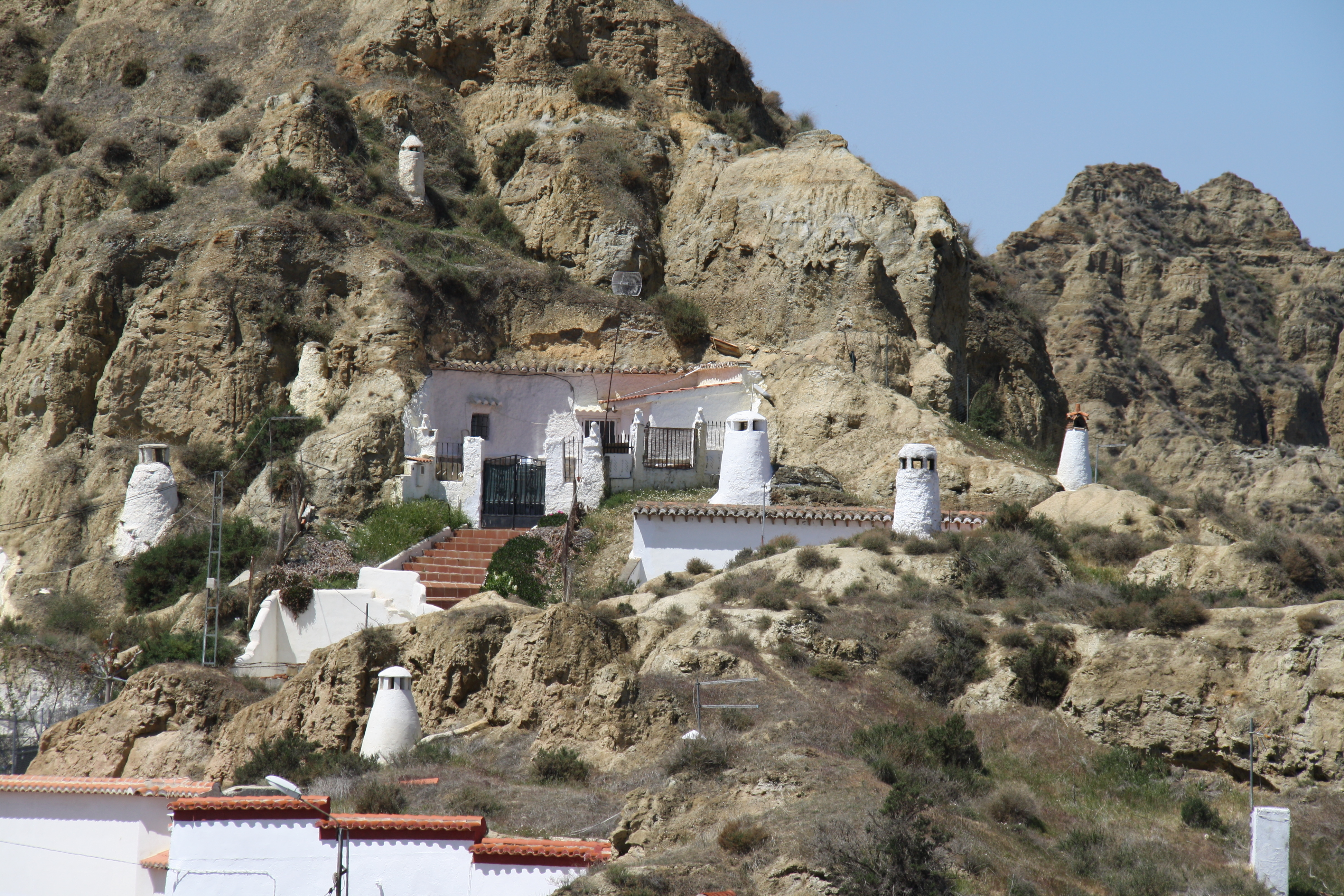 The cave dwellings of Guadix, Spain