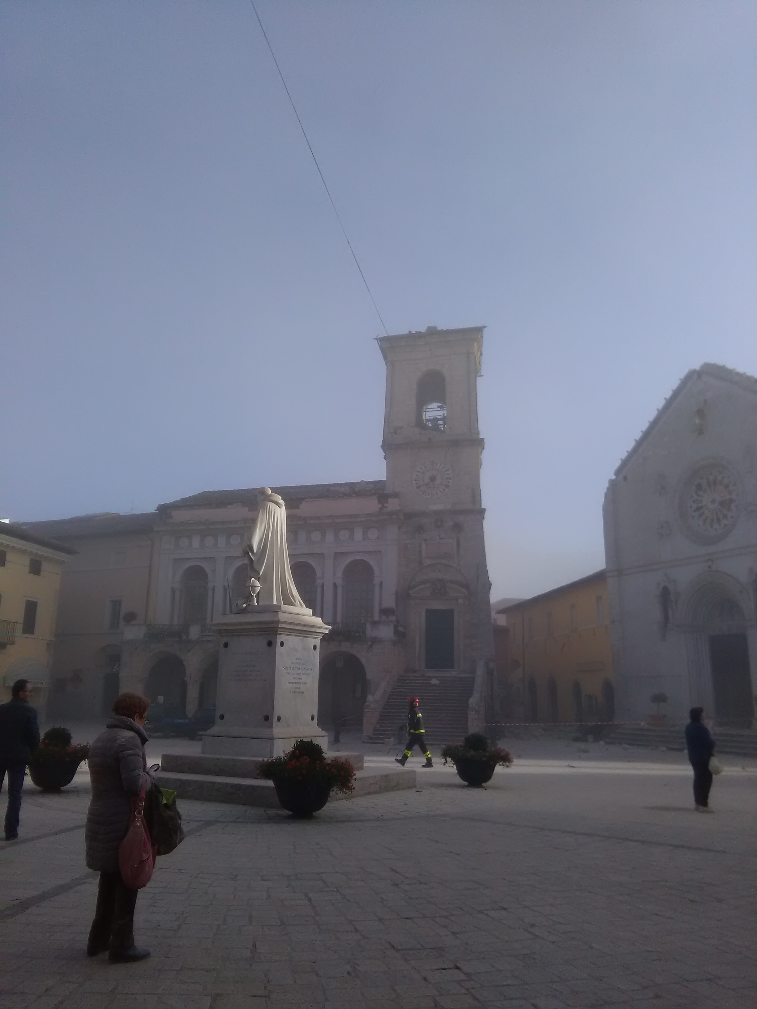 Norcia town hall after the quake