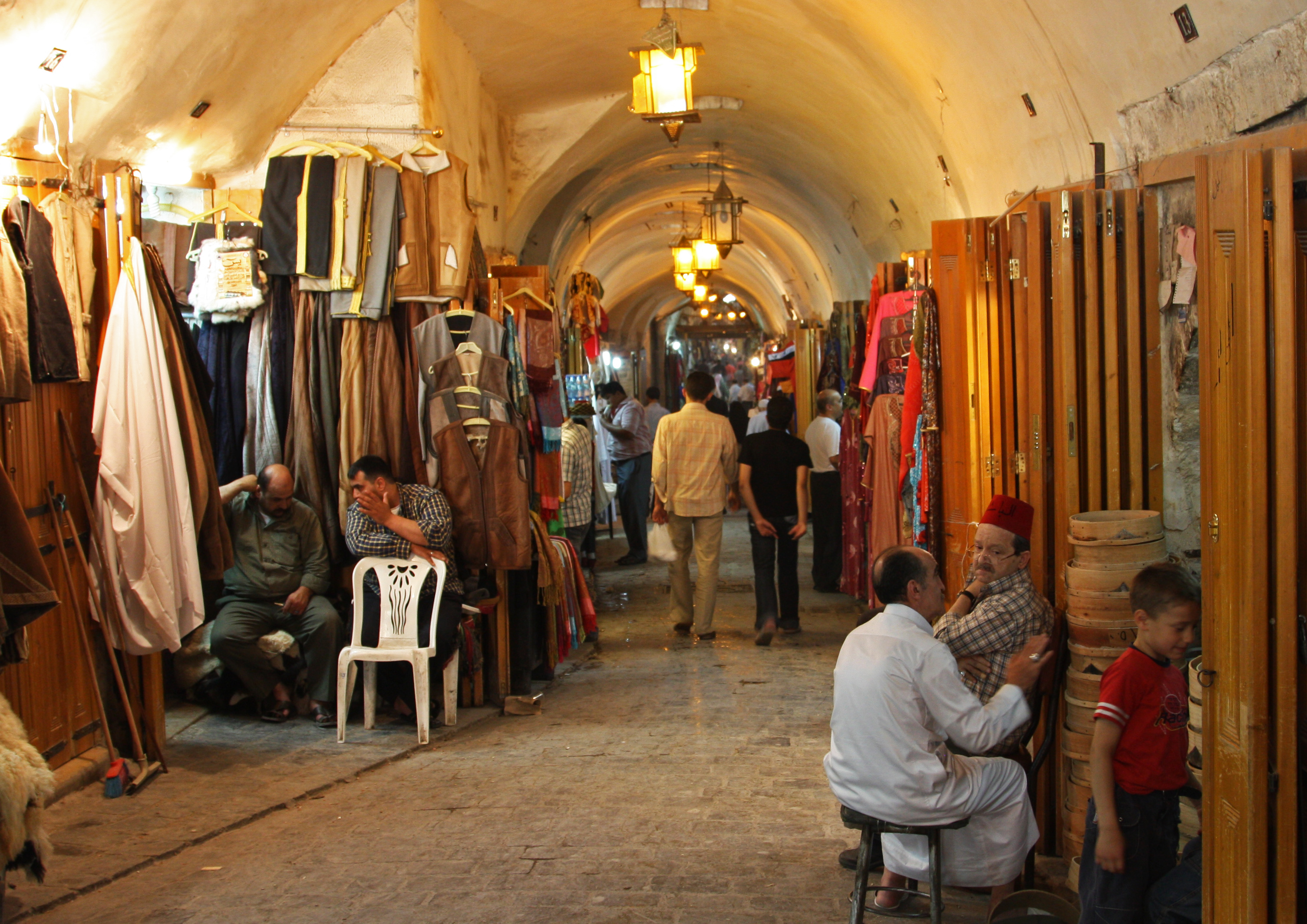 Aleppo market Syria