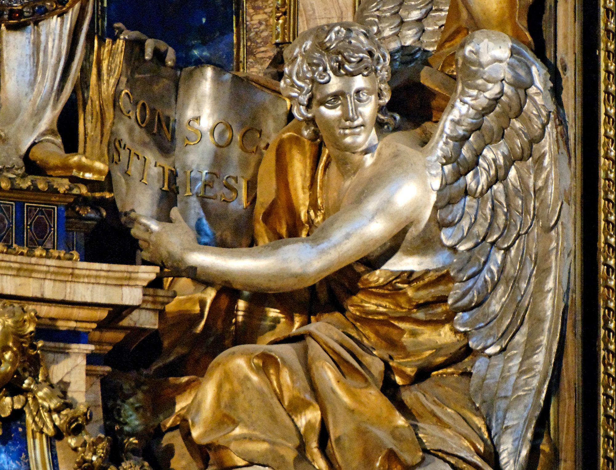 GESU CHURCH ANGEL AT THE FEET OF ST IGNATIUS