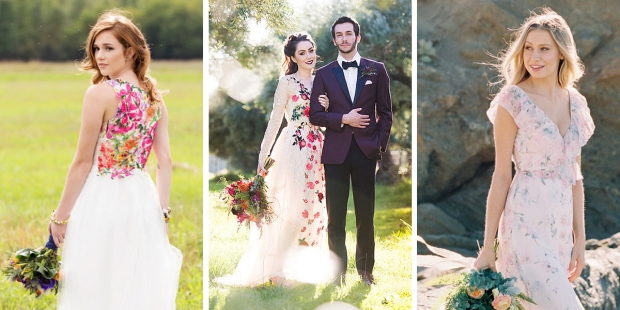 Gorgeous Floral Printed Wedding Dresses Perfect For Summer Brides