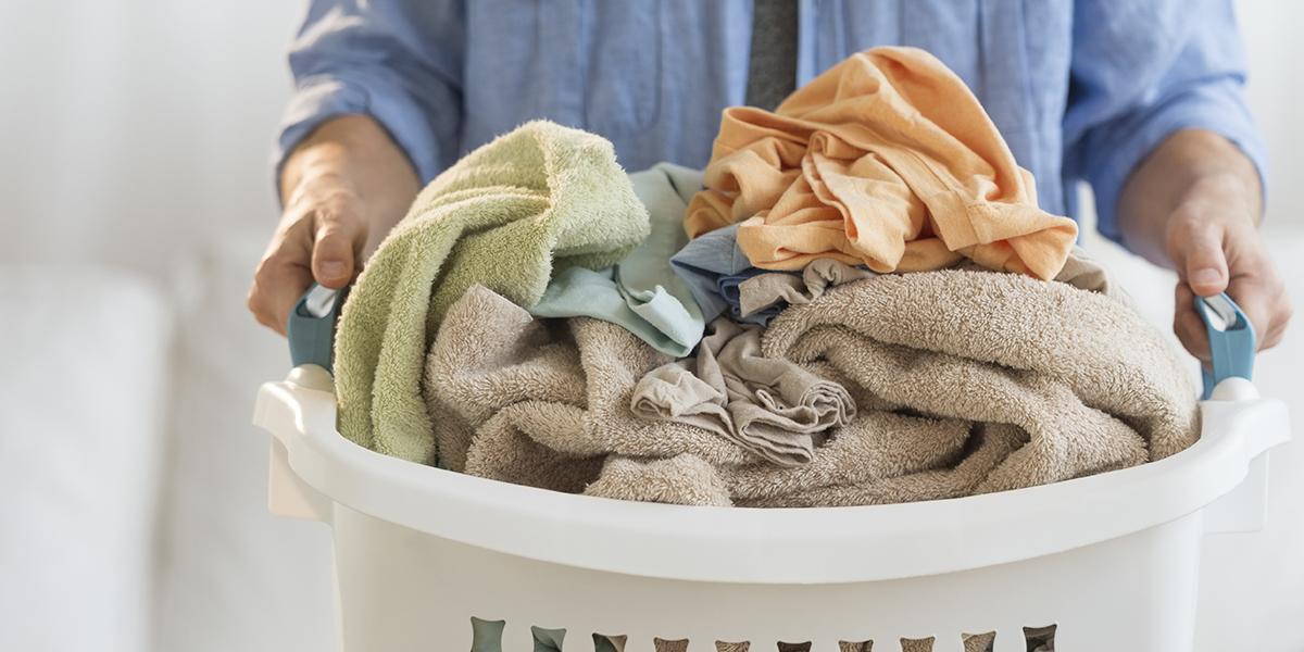 Man doing Laundry