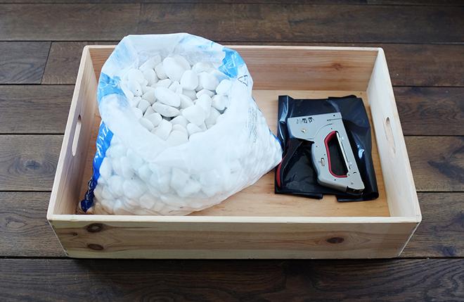 DIY Rain Boot Pebble Box
