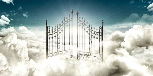 Heaven as a City in the Clouds Pearly Gates --Aleteia