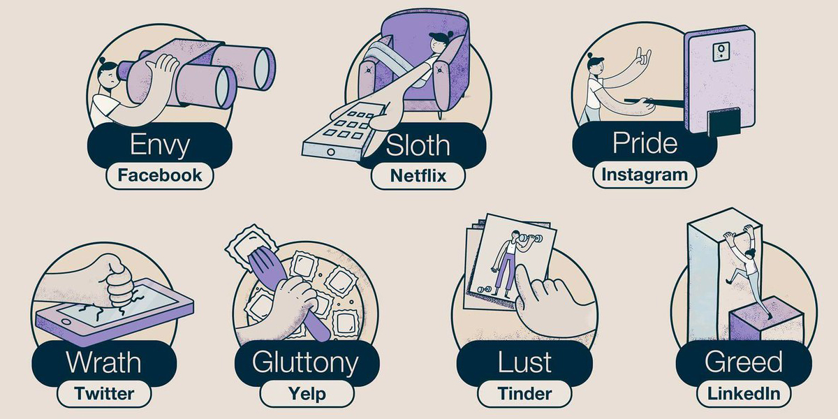 Here S What The 7 Deadly Sins Look Like In The Modern World