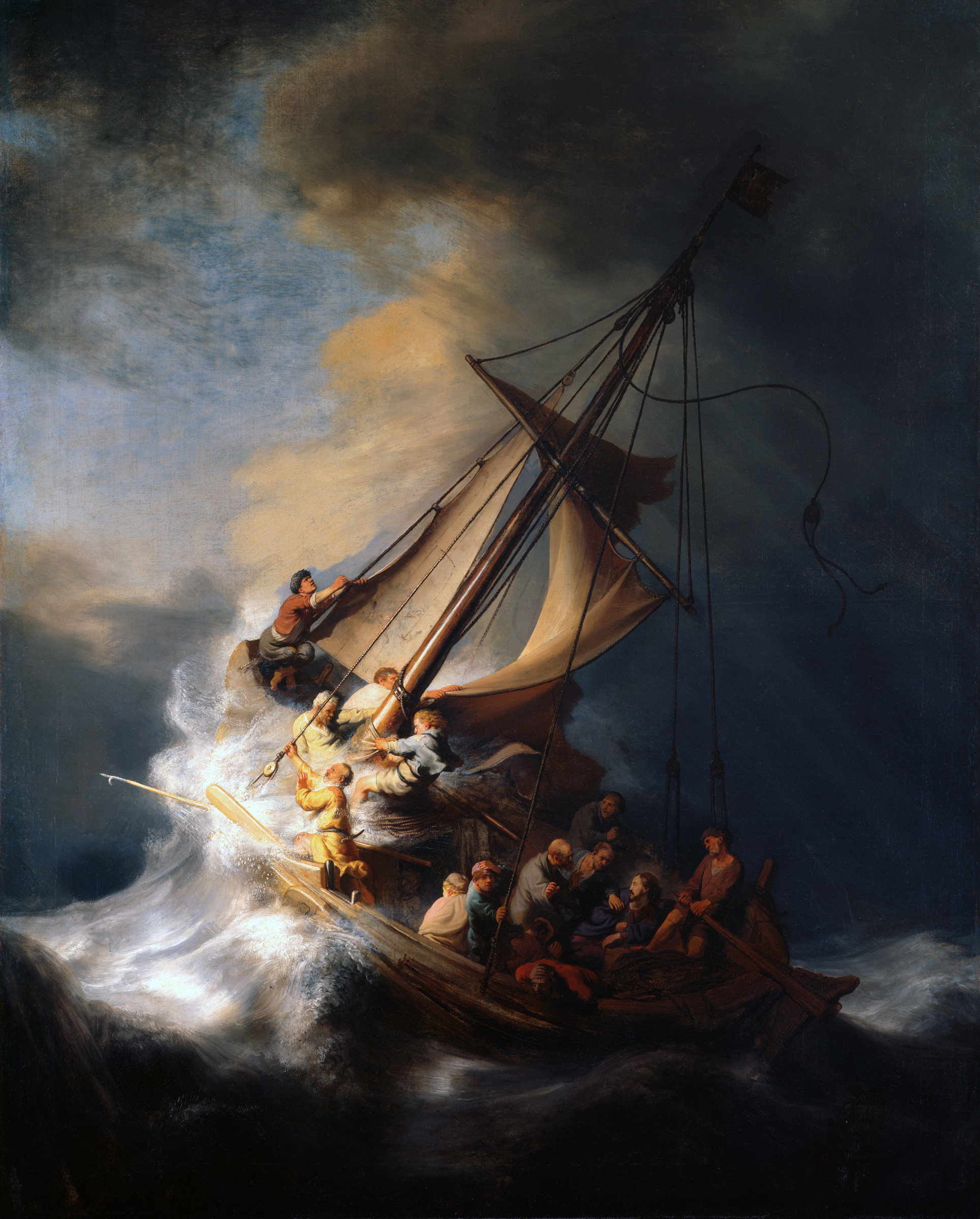 REMBRANDT; CHRIT IN TEH STORM OF THE Sea of Galilee